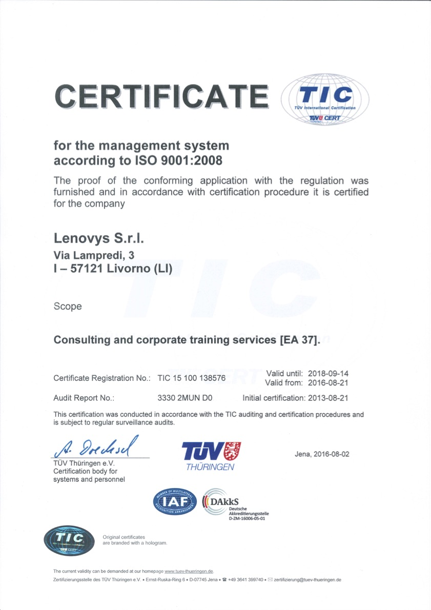 Tuv Certification Training Lenovys